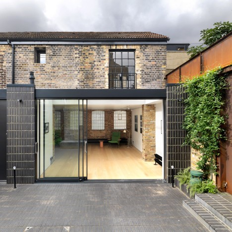 Threefold Architects transforms workshop and shop to create combined gallery and home