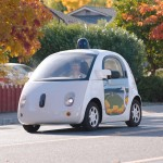 Google first revealed footage of a self-driving vehicle with no steering wheel or pedals in May 2014