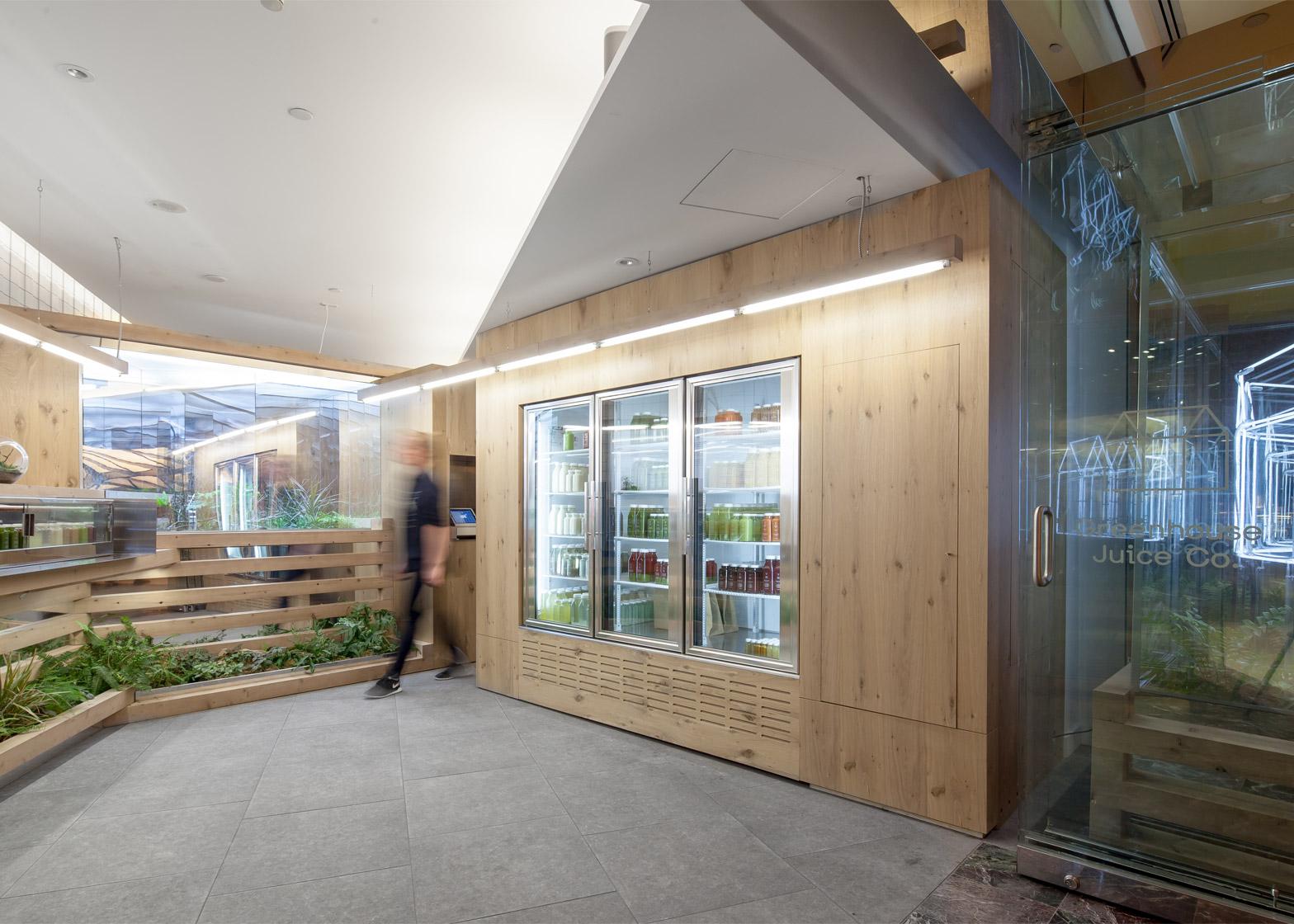 2 Of 5 Grow Op Juice Bar In Toronto By Kilogram Studio