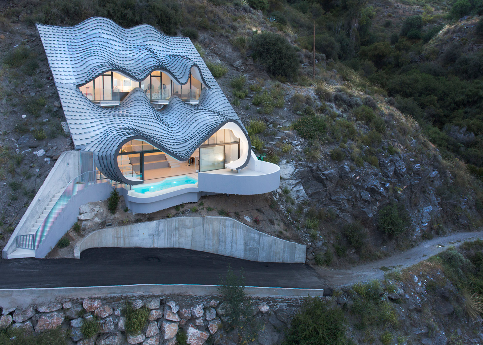 9 Of 9; House On The Cliff By Gilbartolome Architects In Granada, Spain