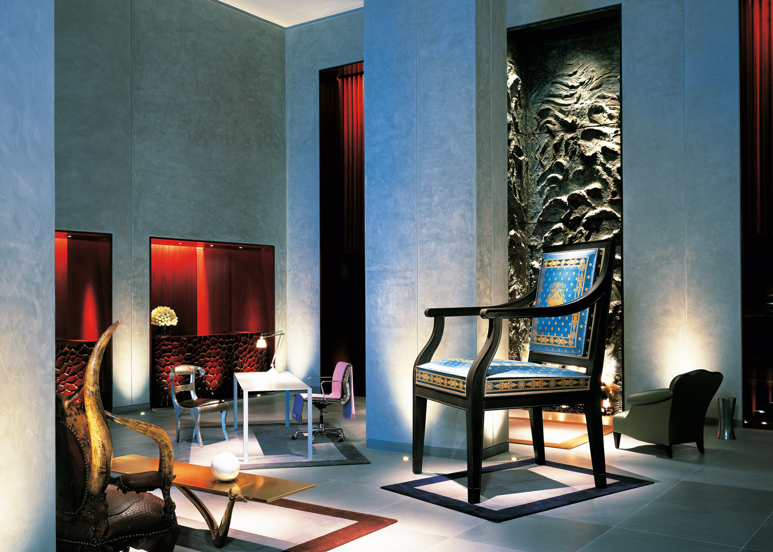 Starck also designed the Clift in San Francisco which opened in 2000 featuring furniture pieces by Salvador Dali