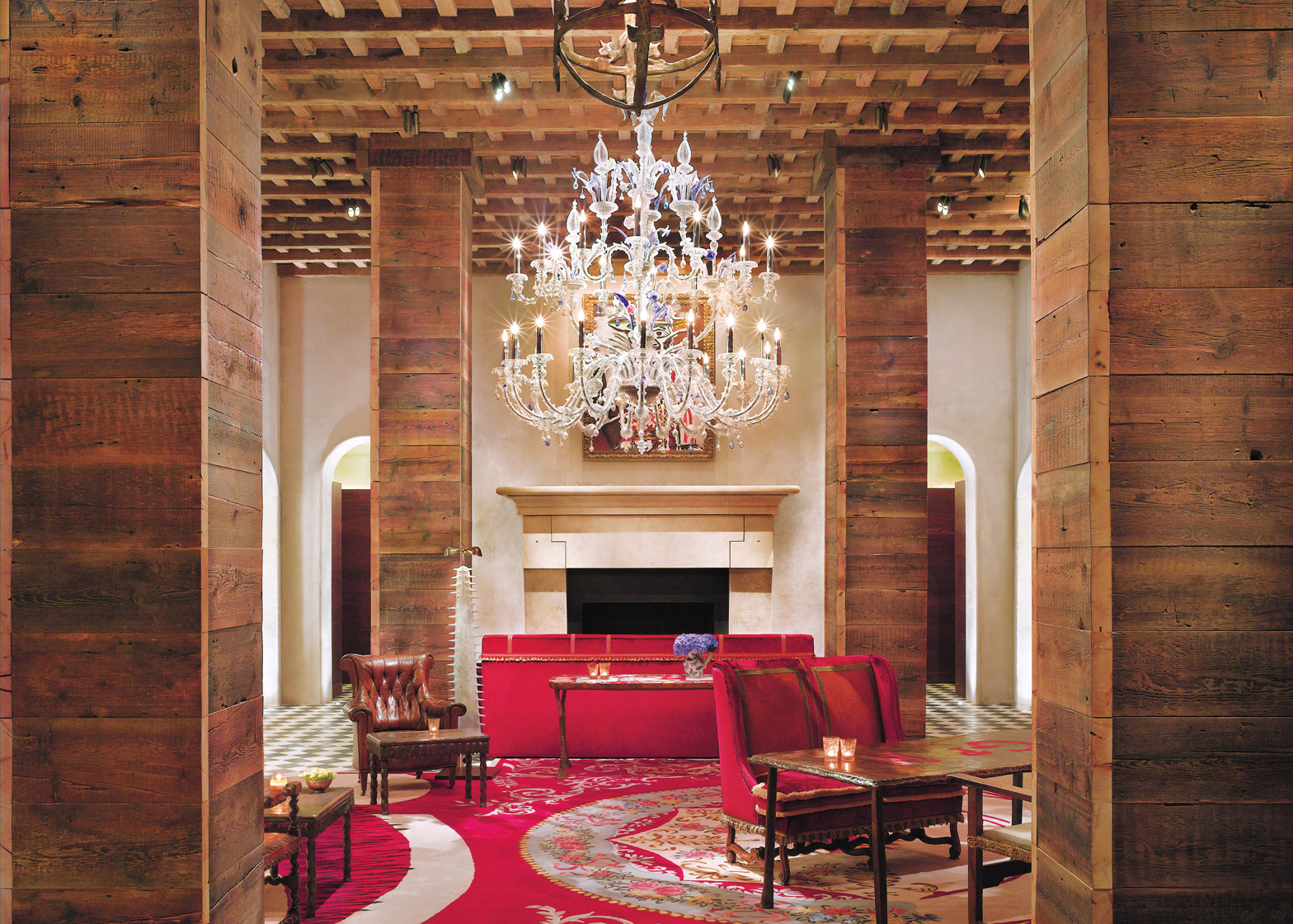 Schrager's Gramercy Park Hotel was designed by Julian Schnabel with interiors influenced by bohemian culture. It opened in New York in 2006.