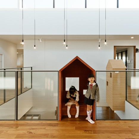 Hibino Sekkei and Youji no Shiro's kindergarten features house-shaped reading nooks