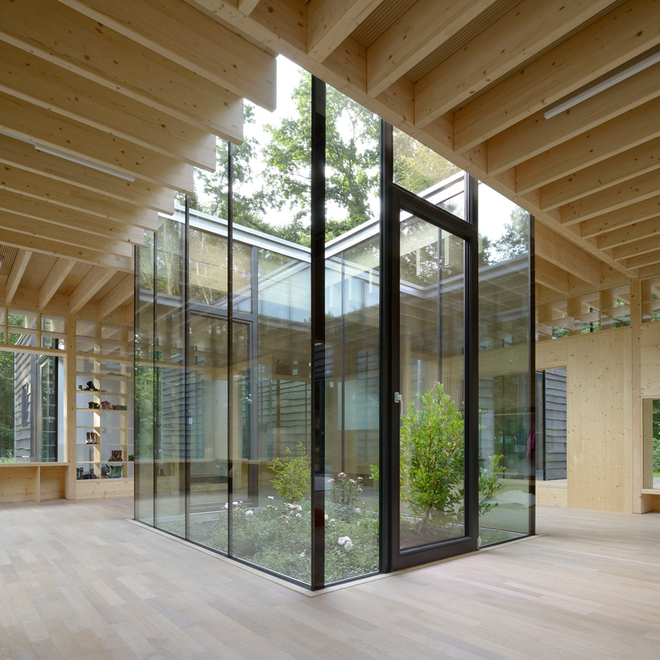 Kinderkrippe by Kraus Schonberg Architekten a timber Nursery School in Hamburg Germany