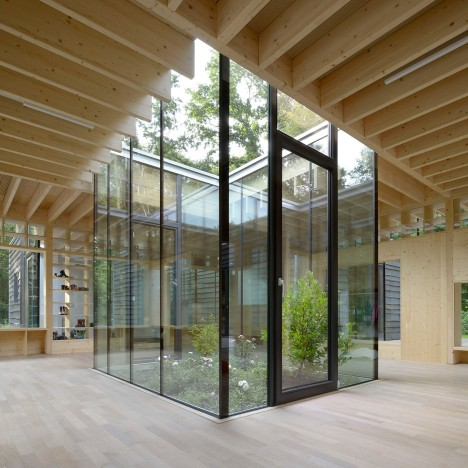 Kraus Schoenberg's woodland nursery wraps around a small courtyard garden