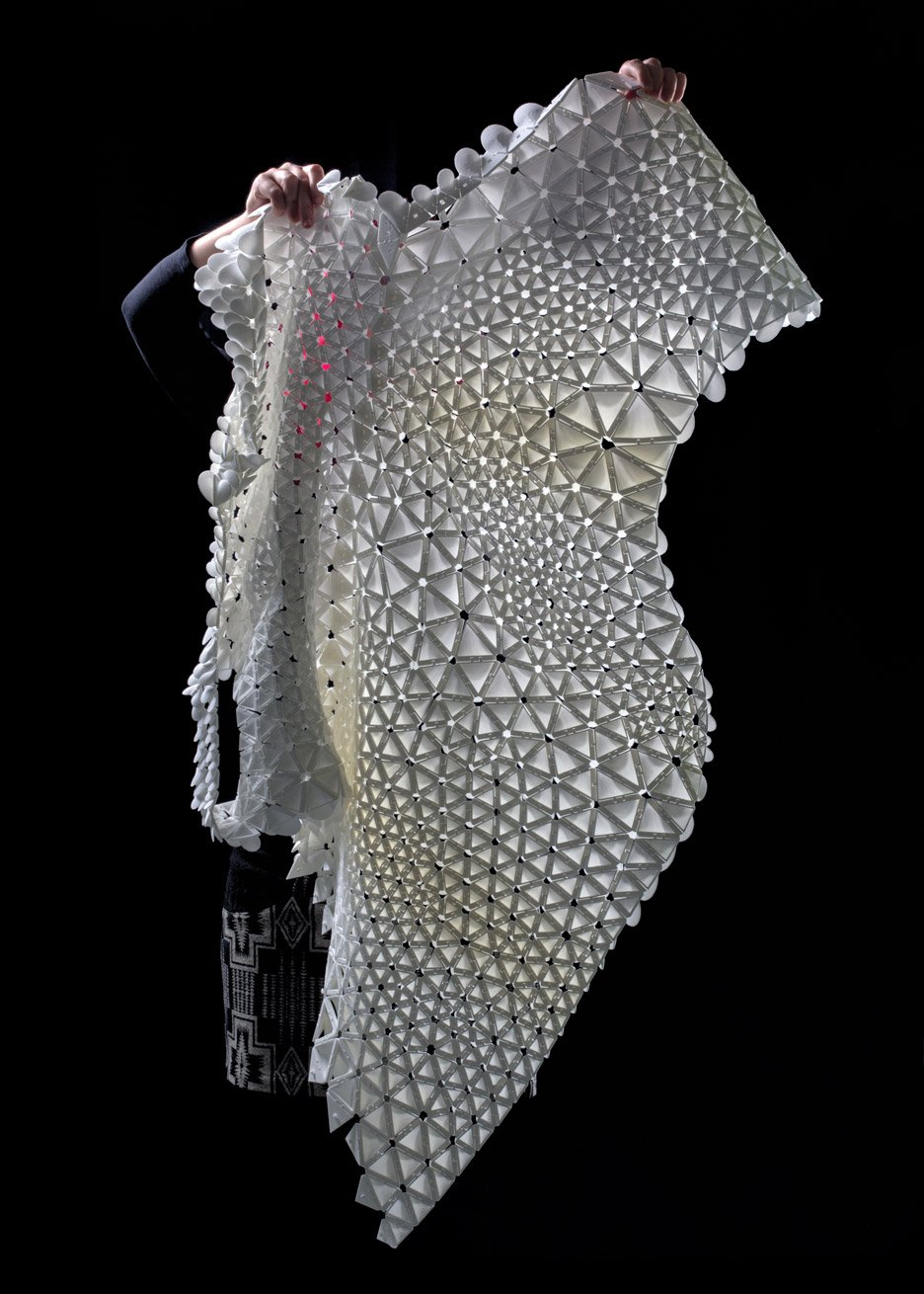 Nervous System creates 4D-printed Petals Dress