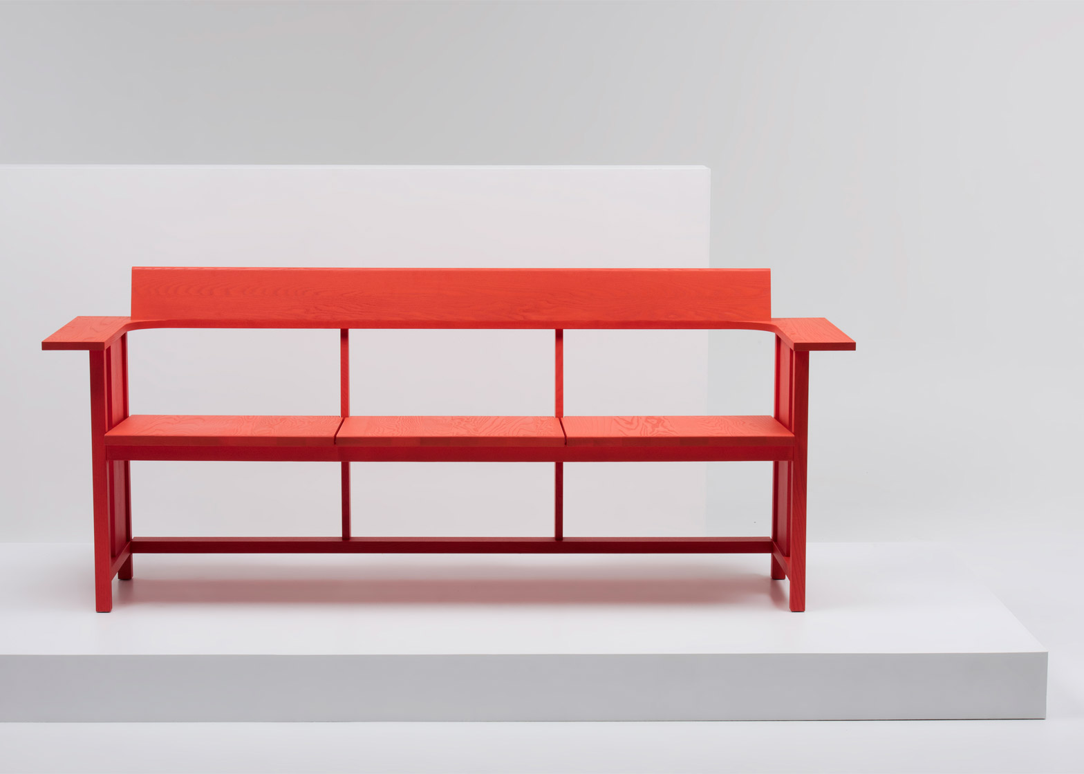 Clerici wooden bench for Mattiazzi