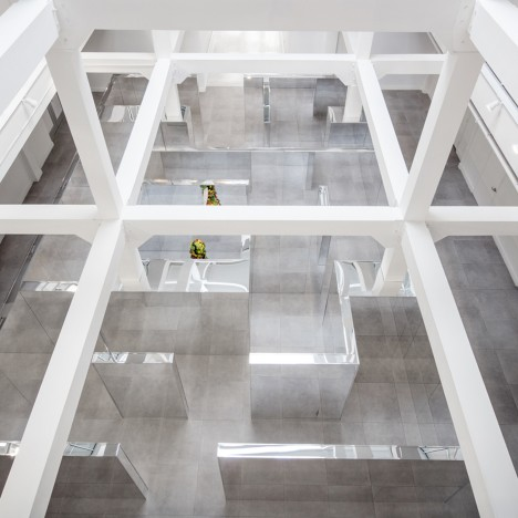 John Miller's Lost maze disorientates visitors with mirrored panels