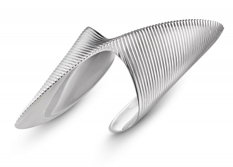 Lamellae Twisted Cuff by Zaha Hadid
