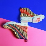 Chengxu Tian creates colourful footwear with raised injection-moulded patterns