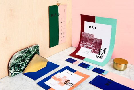 Branding for Masquespacio interior-design studio renovation in Valencia Spain