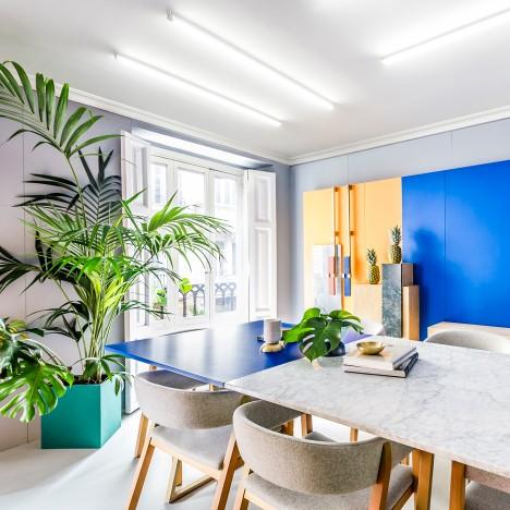 Masquespacio designs colourful interior and branding for its own Valencia studio