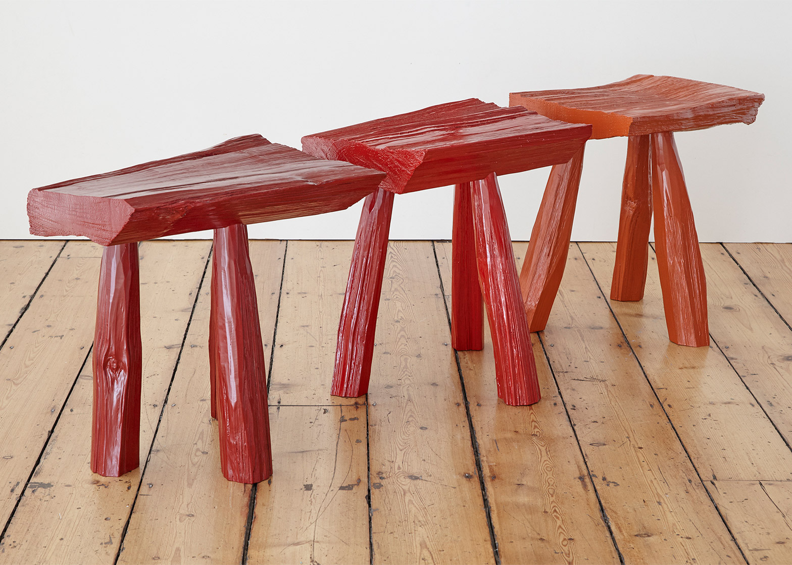 Urushi Stools by Max Lamb