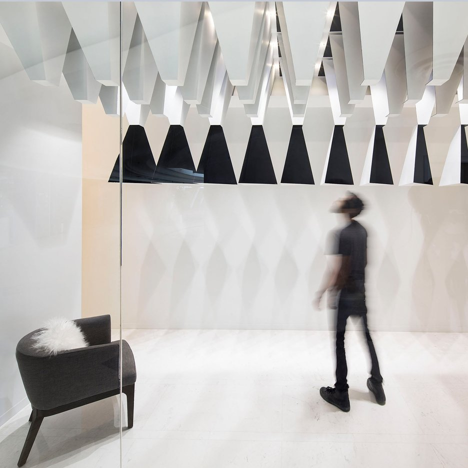 Massive Order Adds Monochrome Stalactites To Kuwait Boutique Interior