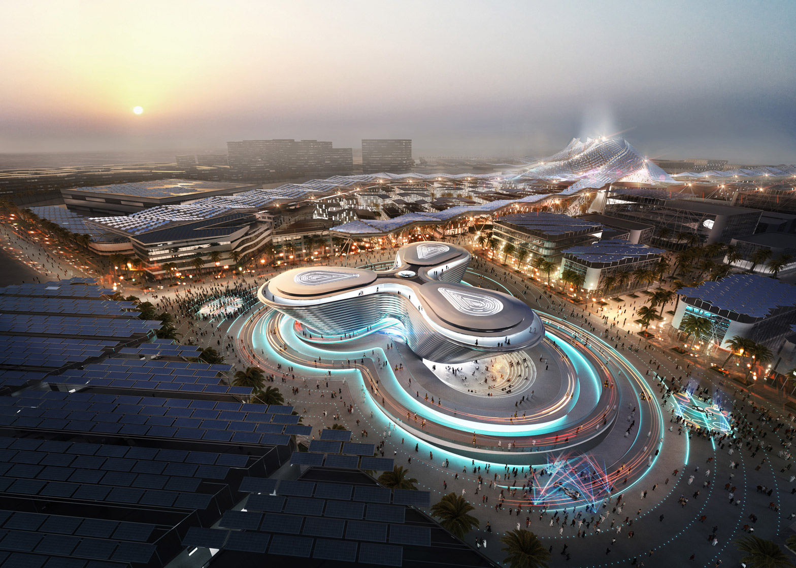Foster+Partner's Mobility Pavilion from the Dubai Expo 2020