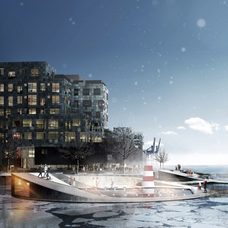 CF Møller plans Copenhagen harbour baths that will double as school classrooms