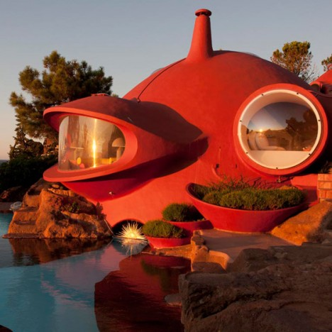 Renovation of the Antti Lovag Bubble house by Odile Decq in Cannes, France