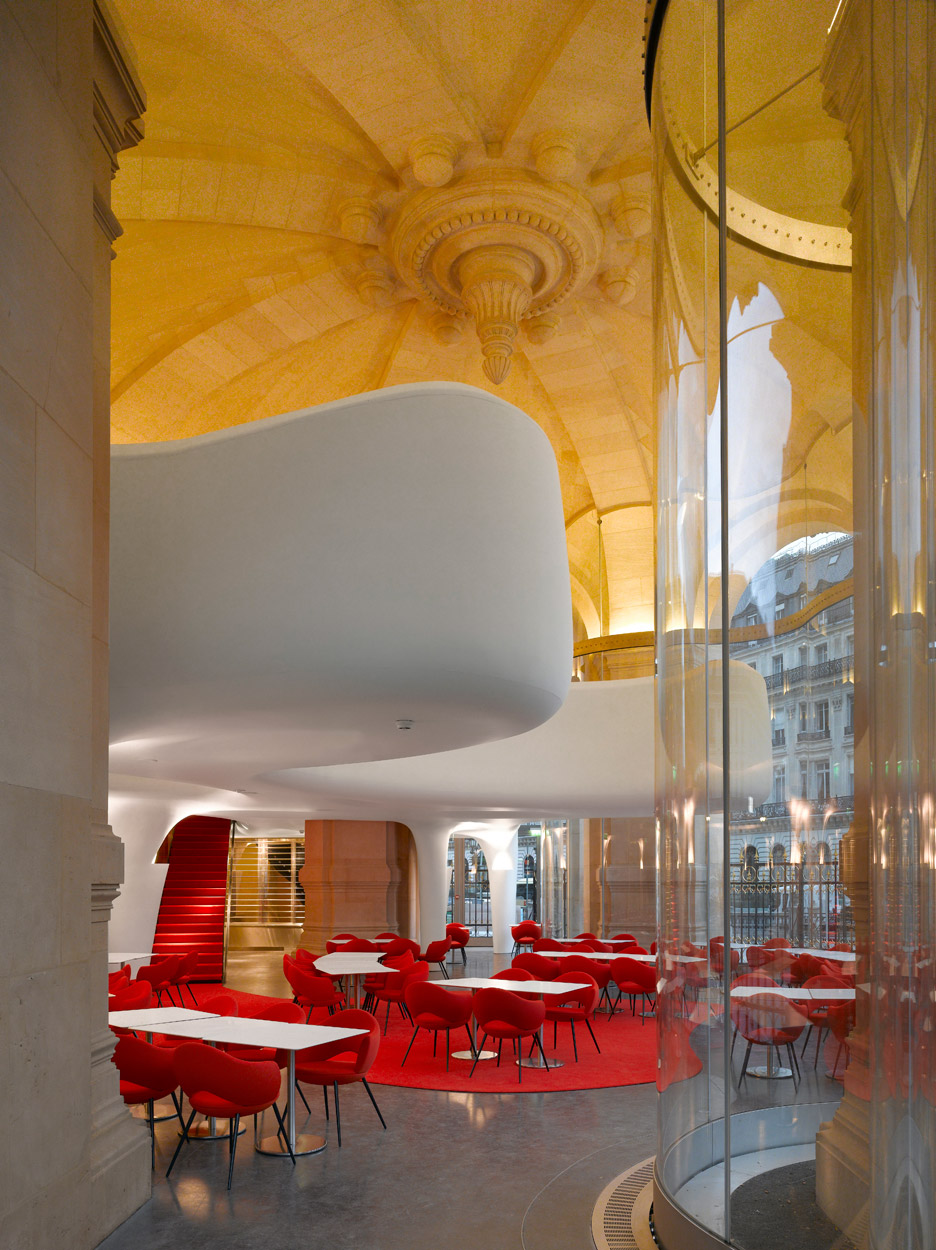 Phantom Restaurant Opera Garnier by Studio Odile Decq in Paris, 2011. Photograph by Roland Halbe