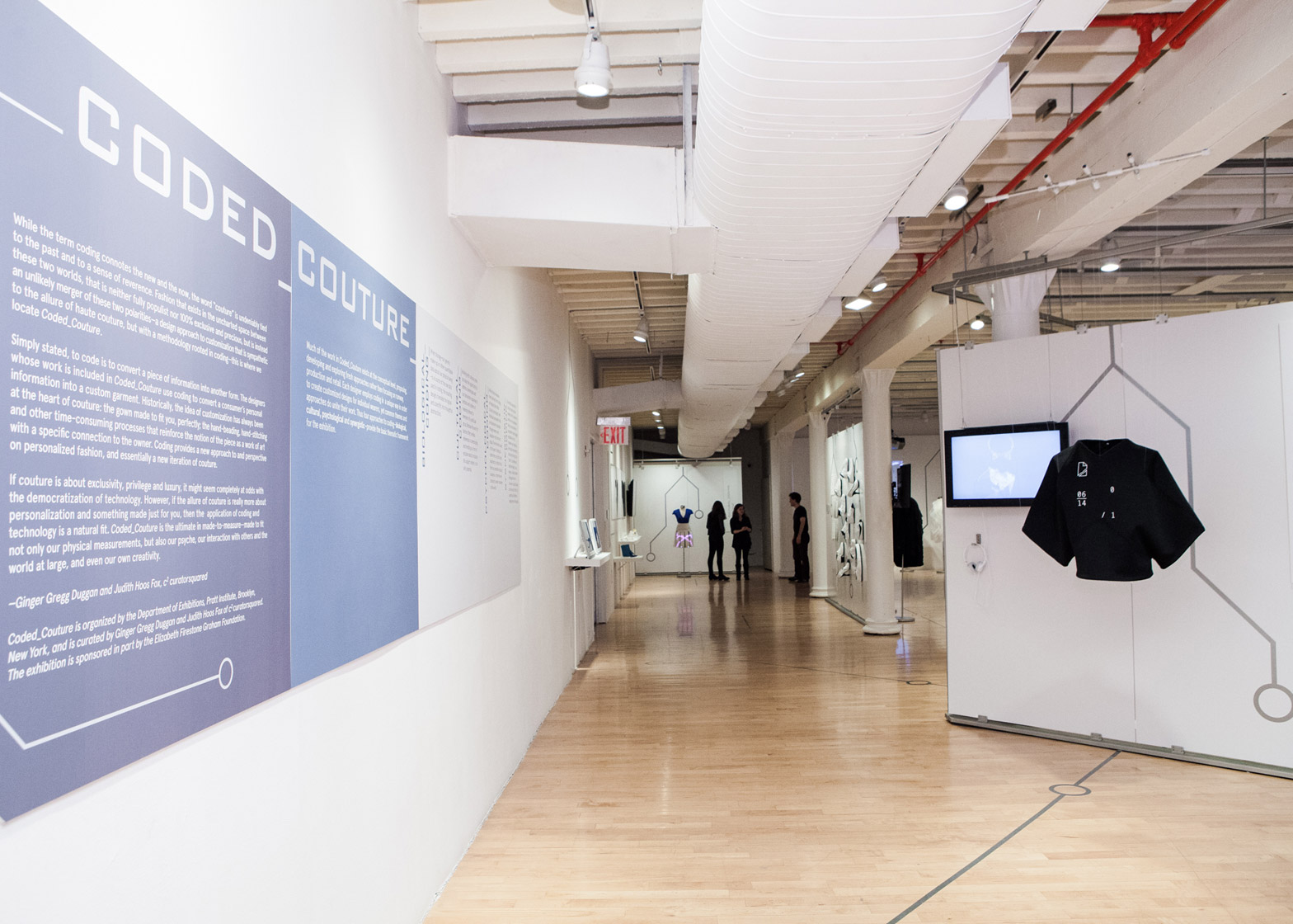 Coded Couture Fashion Exhibition At Pratt Institute In New