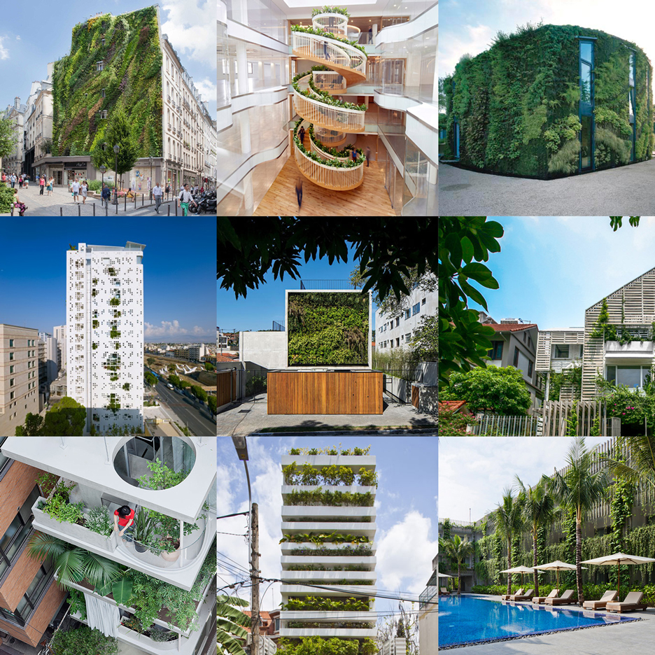 Buildings in bloom feature on Dezeen's updated plants Pinterest board