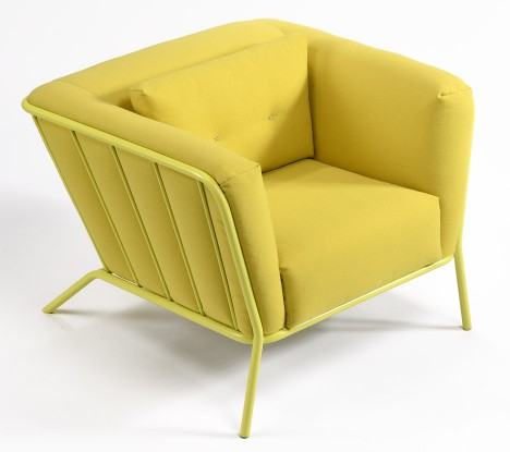 Ineke Hans' Plouf armchair and pouffe for Moome