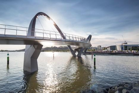 Queen Elizabeth Quay bridge in Perth, Australia by Arup Associates