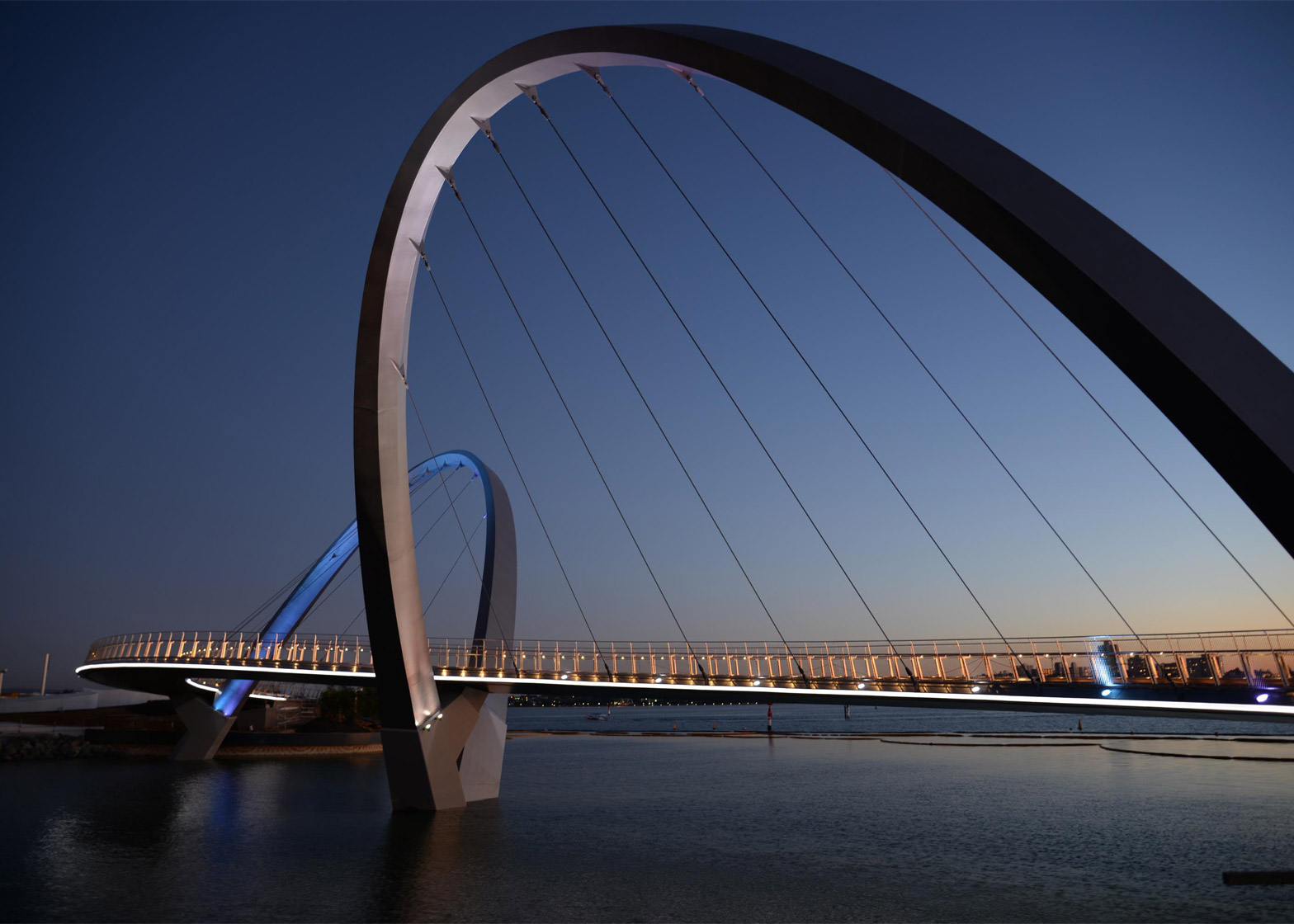 Queen Elizabeth Quay bridge in Perth, Australia by Arup Associates