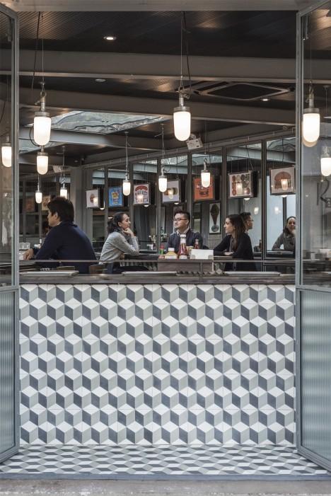 Rachel's Burger restaurant by Neri&Hu