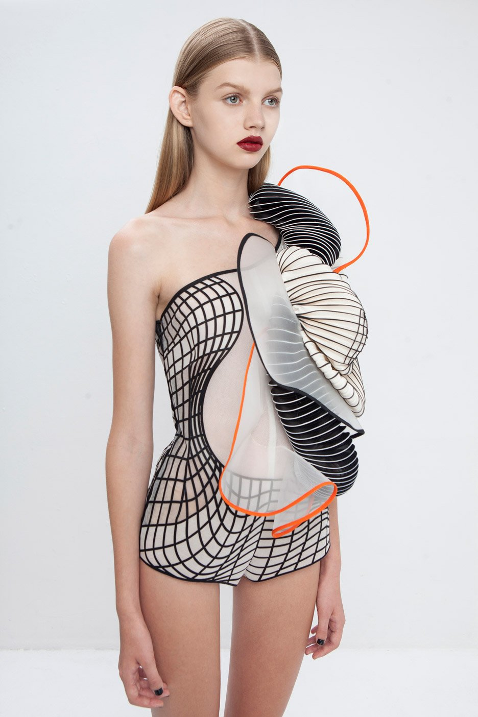 Bodysuit from the Hard Copy collection by Noa Raviv, 2014