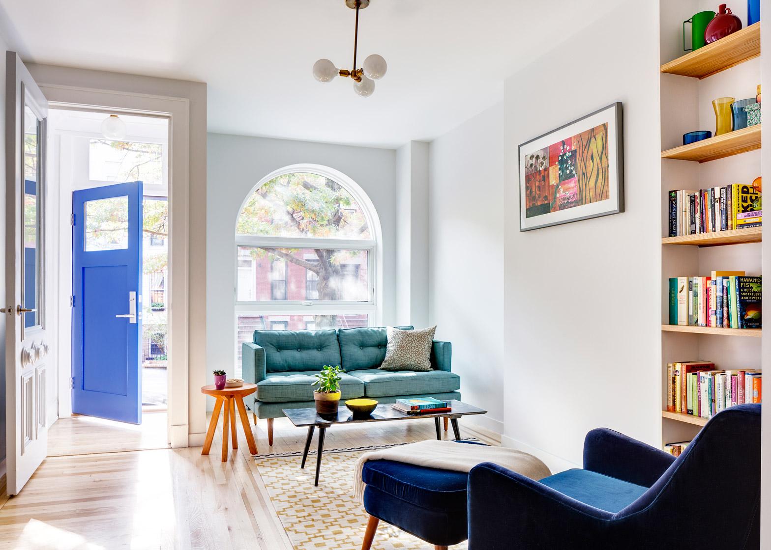 Barker Freeman overhauls narrow Brooklyn row house for a family of four