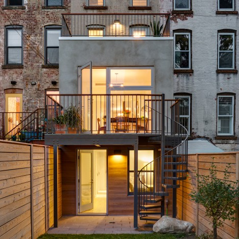 Barker Freeman overhauls narrow Brooklyn row house for a family of four