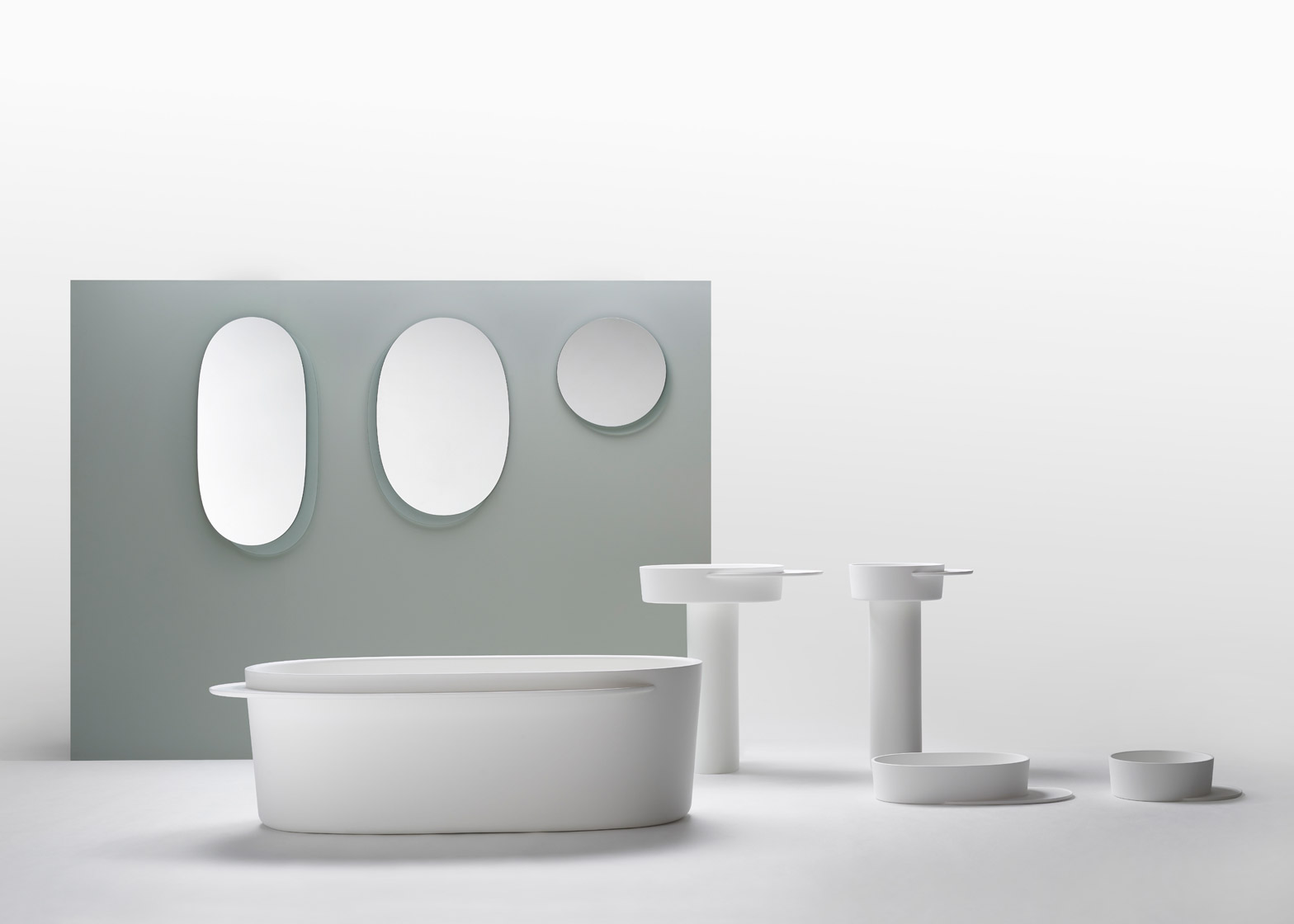 Sebastian Herkner Designs Plateau Range Of Oval Shaped Bathroom Products
