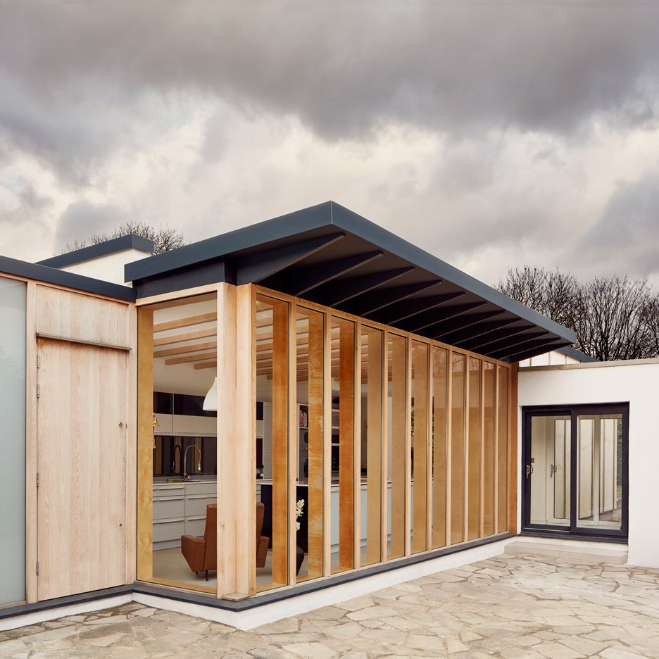 3novices Tdo Adds Boxy Plywood Framed Extension To Old