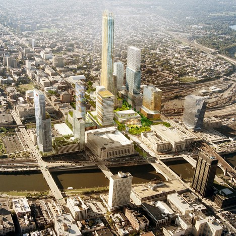 SHoP and West 8 masterplan extends Philadelphia skyline across the Schuylkill River