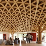 Klein Dytham builds latticed community hall for Toyo Ito's post-earthquake recovery programme