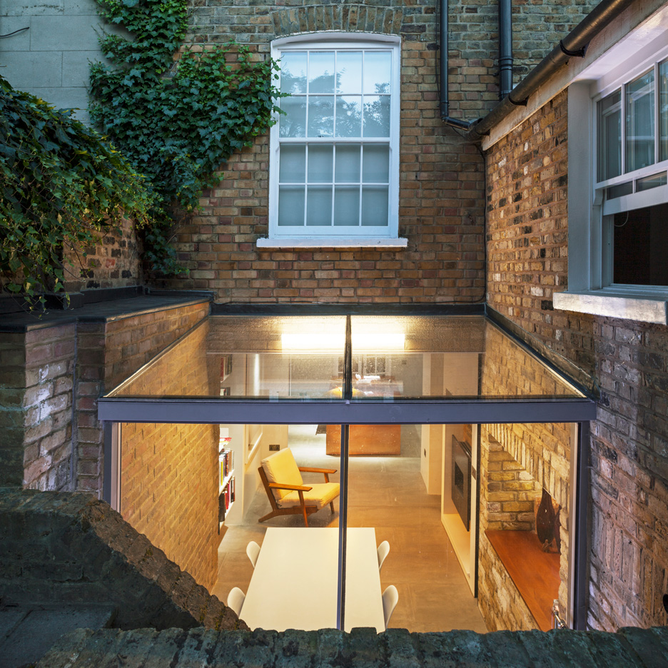 Space Group Architects add sunken glass box extension to heritage-listed London house