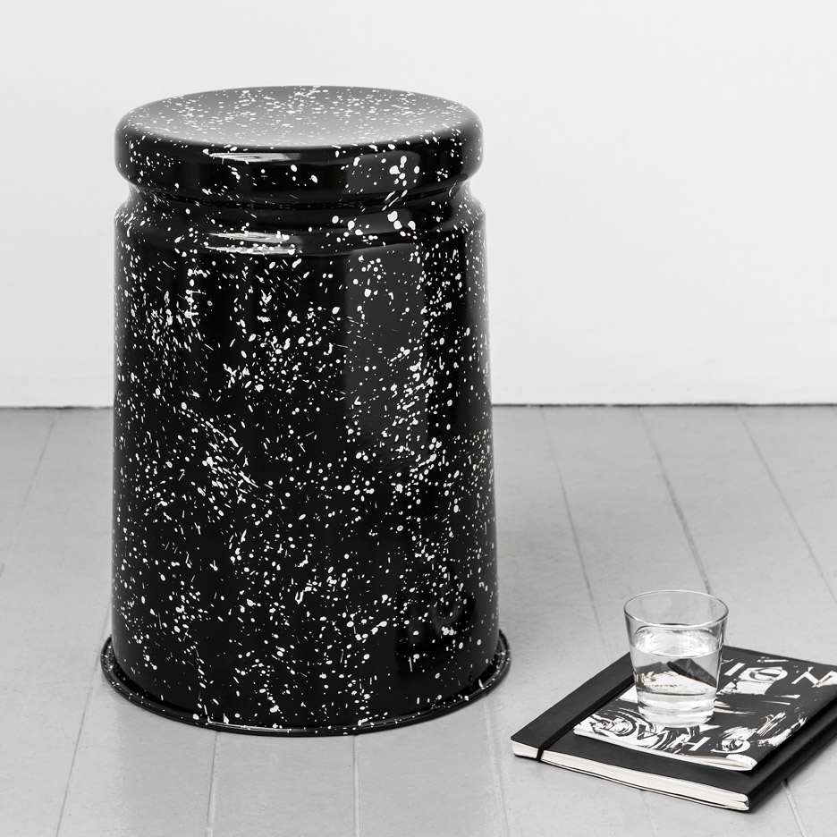 Max Lamb splatters metal stools for Hem