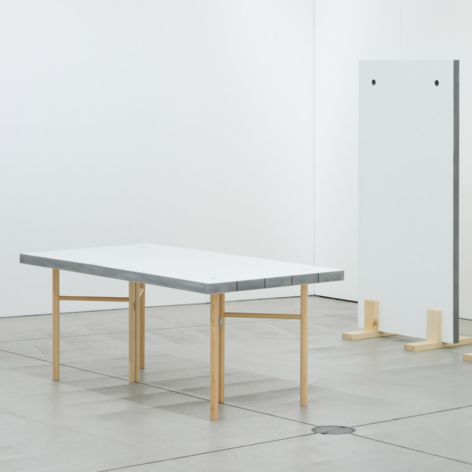 Schemata Architects designs lightweight table that doubles as a room partition