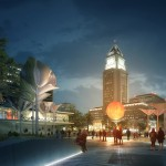 """OMA unveils """"new type of park space"""" for Los Angeles' FAB Civic Center competition"""
