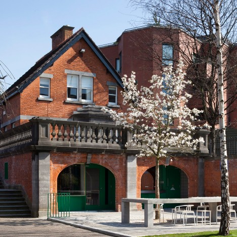 TAKA slots tearooms and toilets beneath brick arches in Dublin's St Patrick's Park