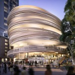Kengo Kuma reveals plans for curving timber-wrapped tower in Sydney's Darling Harbour