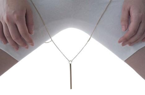 Thigh gap jewellery by Soo Kyung Bae