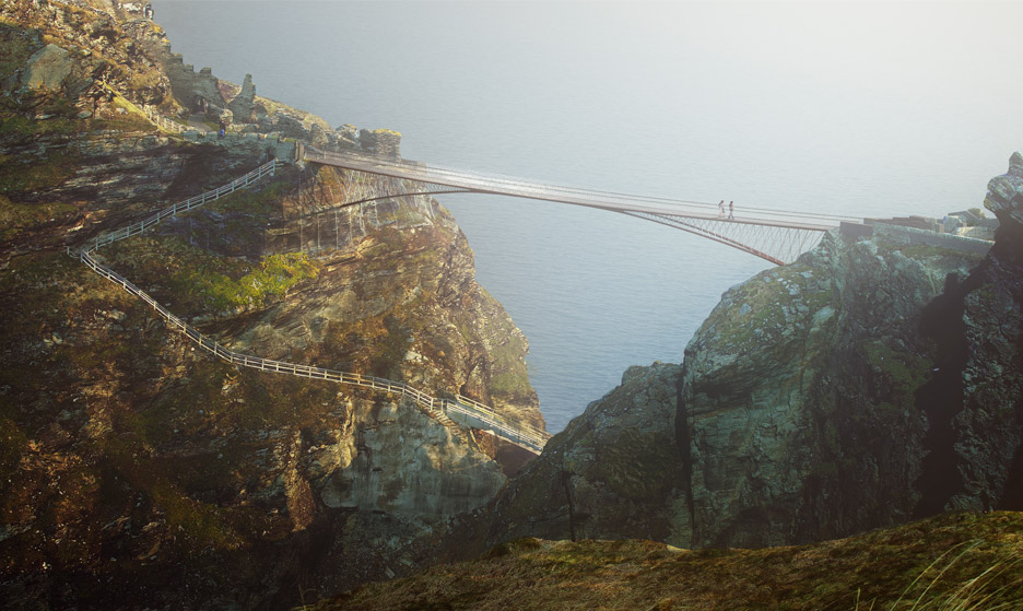 Tintagel Castle Bridge by Ney & Partners and William Matthews Associates