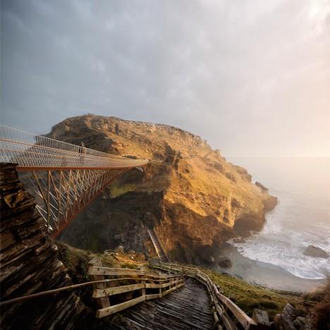 Tintagel Castle Bridge by Ney & Partners and William Matthews Associates