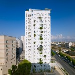 Jean Nouvel's Cyprus tower has plants bursting through its walls
