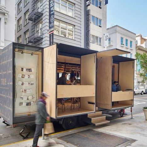 Mobile lingerie shop by SAW and MOA designed to travel across the US