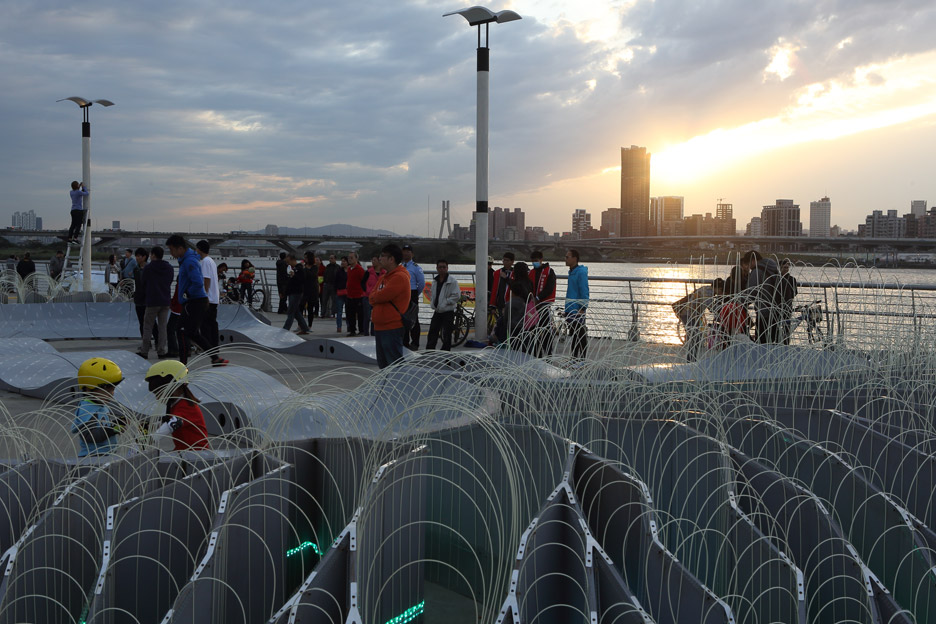 VelO2 installation by Loop.ph for Shin Kong Life in Taipei, Taiwan