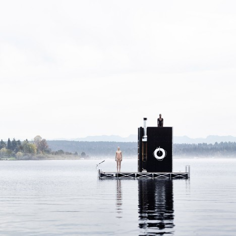 WA Sauna by goCstudio floats on Seattle's Lake Union