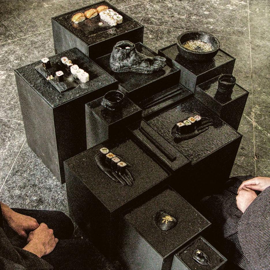 Yomi tableware designed by Allegra Santis Anna Groet at The Hague, Netherlands
