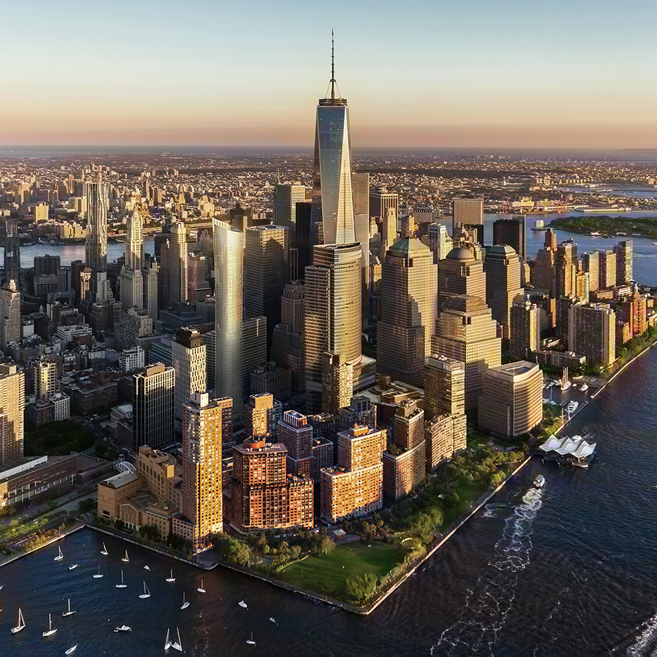Residential skyscrapers on the rise in Manhattan's Financial District